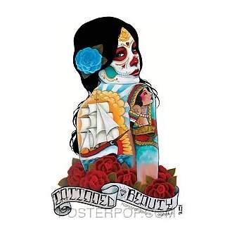 Poster Pop Gustavo Tattooed Beauty Sticker GRS03
