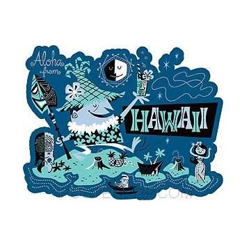 Poster Pop Derek Yaniger Aloha Sticker DYS01