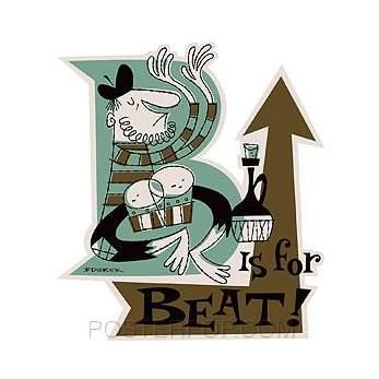 Poster Pop Derek Yaniger Beat Sticker DYS02