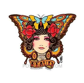 Poster Pop Gustavo Tattoo Butterfly Sticker GRS14