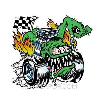 Poster Pop Kozik Butt Racer Sticker KZS07