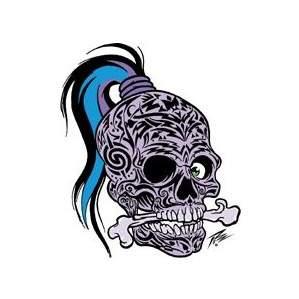 Poster Pop Sticker Pizz Tattooed Skull PZS06