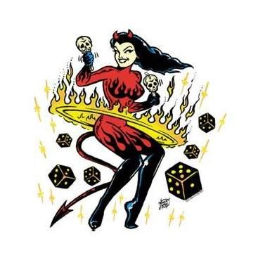 Poster Pop Vince Ray Go Go Girl Sticker VRS17