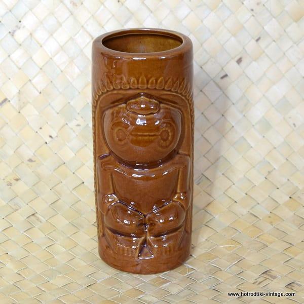 Vintage DW114 Brown Tiki Mug 1