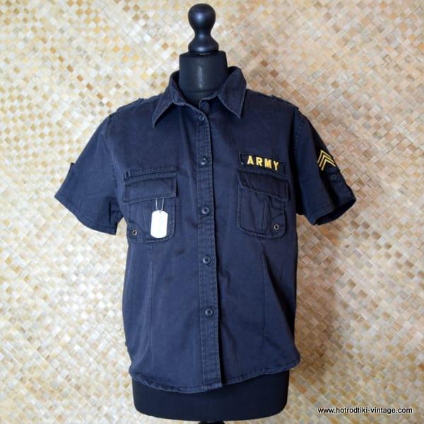 Vintage Style US Army Black Short Sleeved Shirt 1