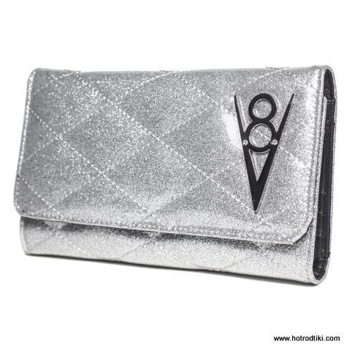 Lux De Ville Hot Rod Silver Wallet 1-001
